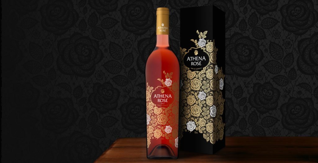 Athena Rosé Wine Label Design