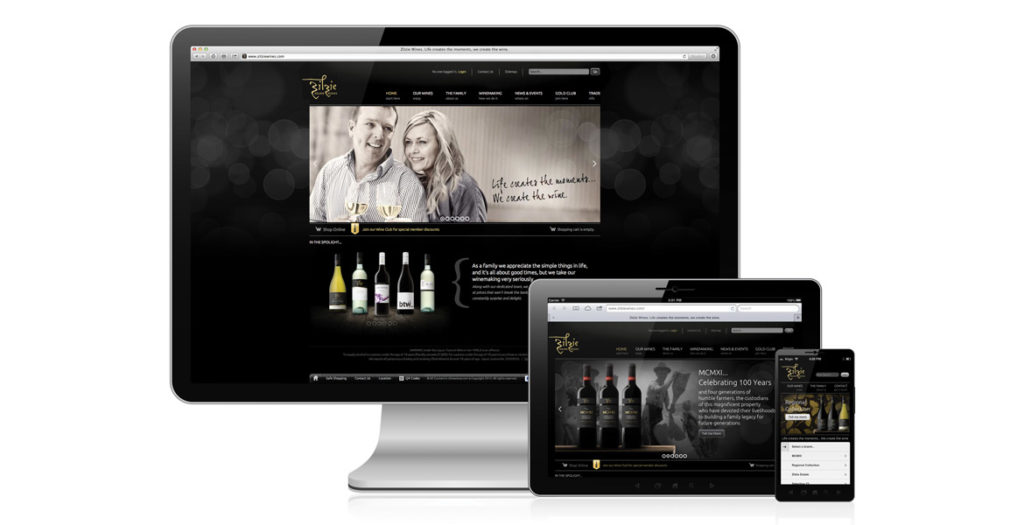 Zilzie Wines Website