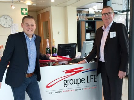 Jeroen Groupe LFE and John at the head office in Netherlands