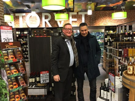 Wine store visit - John and Morten from AMKA Randers Denmark