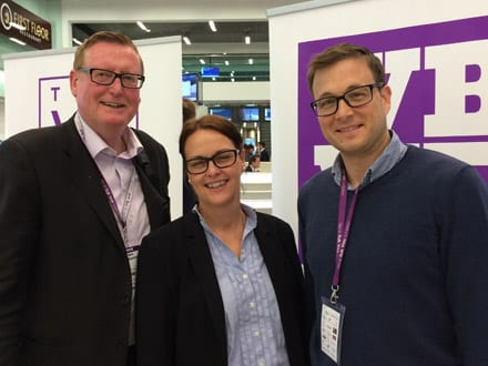 John with Susann and Christian from AMKA @ the World Bulk Wine Exhibition, Amsterdam