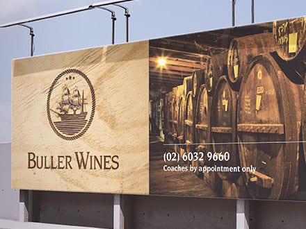 Buller Wines Exterior Signage