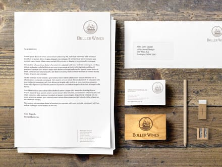 Buller Wines Stationery