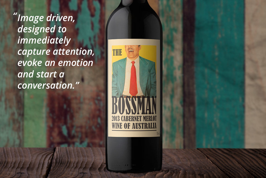 Off-the-Shelf Wine Label Design - The Bossman