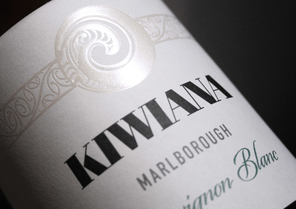 Kiwiana Wine Label Design