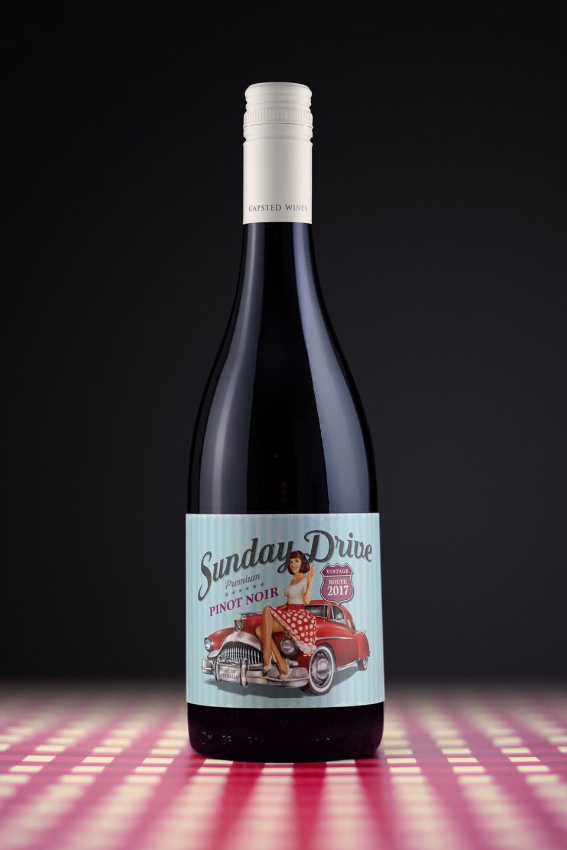 Wine Label Design Sunday Drive