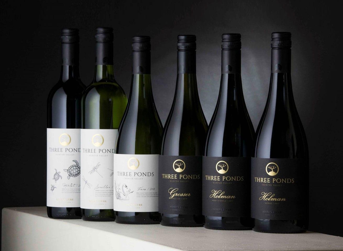 Wine Label Design Three Ponds