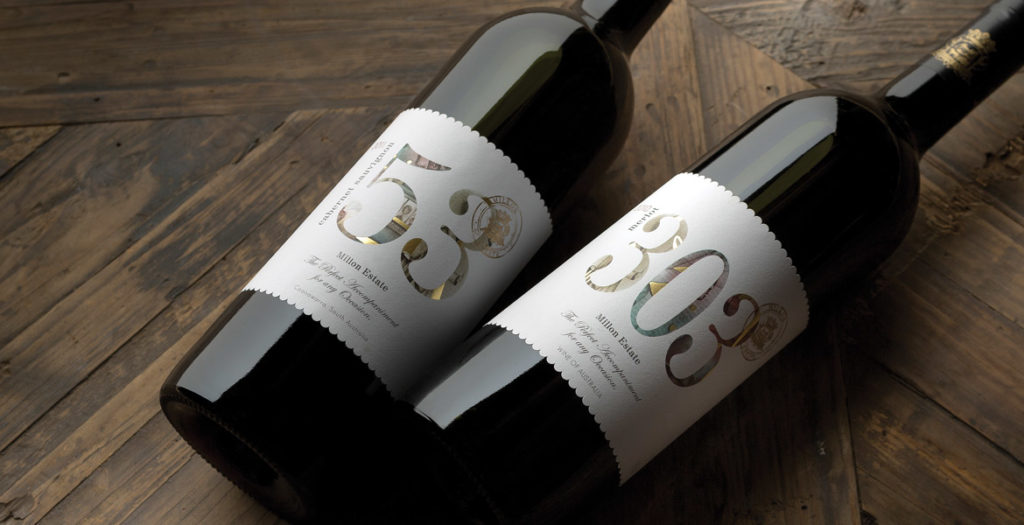 Millon Estate 53 and 303 Wine Labels
