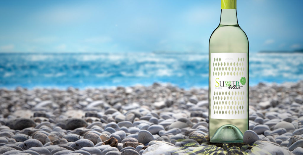 Summer White Wine Label Design