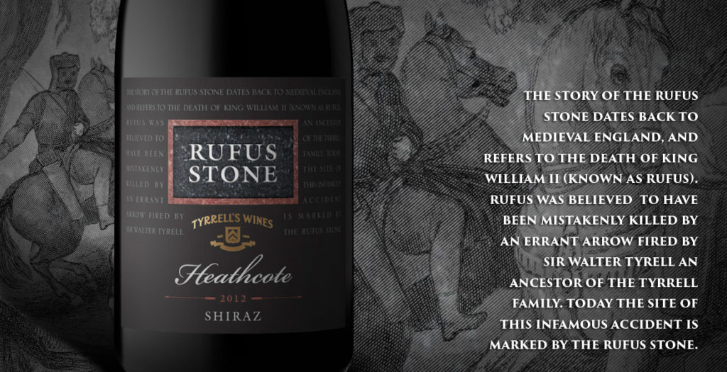 Tyrrell's Rufus Stone Wine Label Design