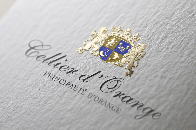 Wine Label Design Logo Cellier-d-Orange