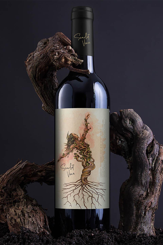 Wine Label Design Scarlett Vine