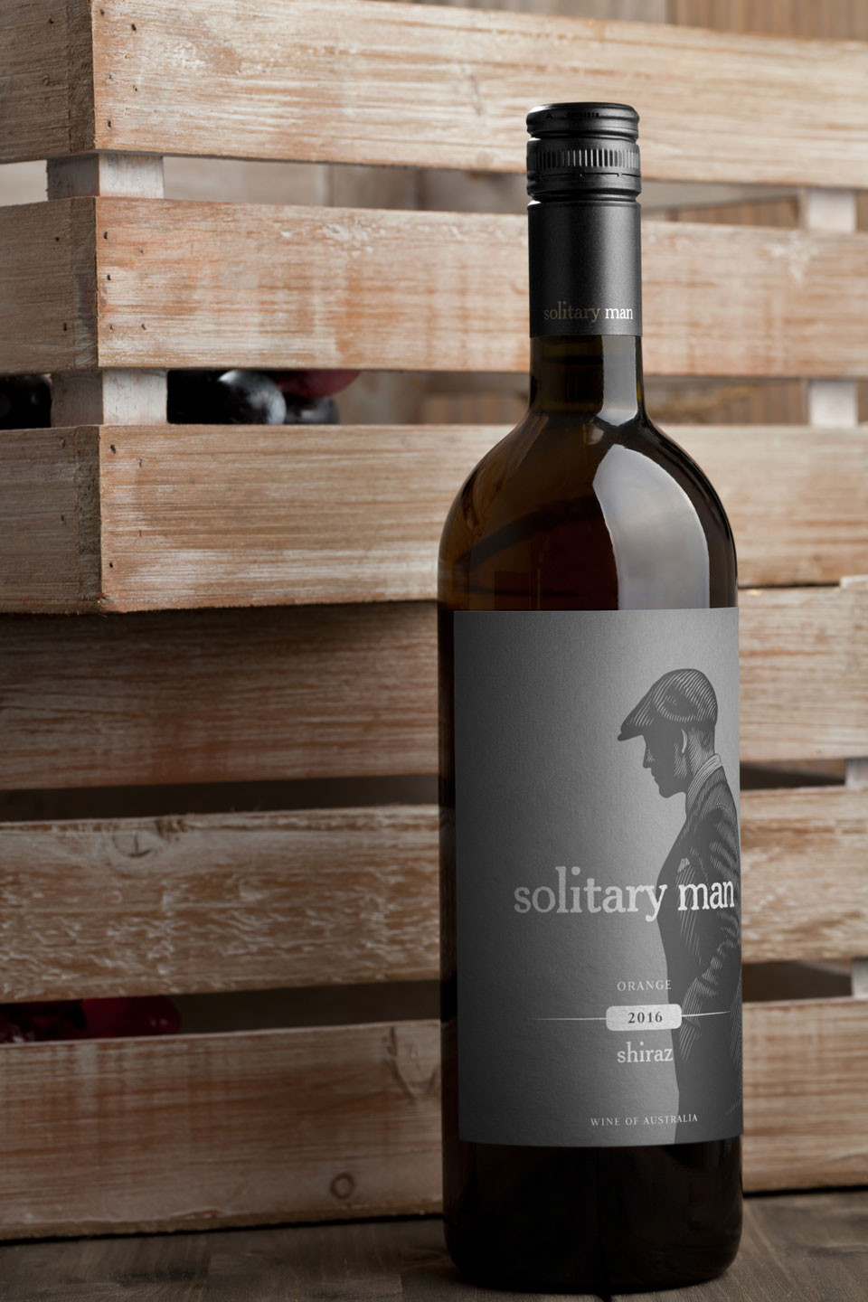 Wine Label Design Solitary Man