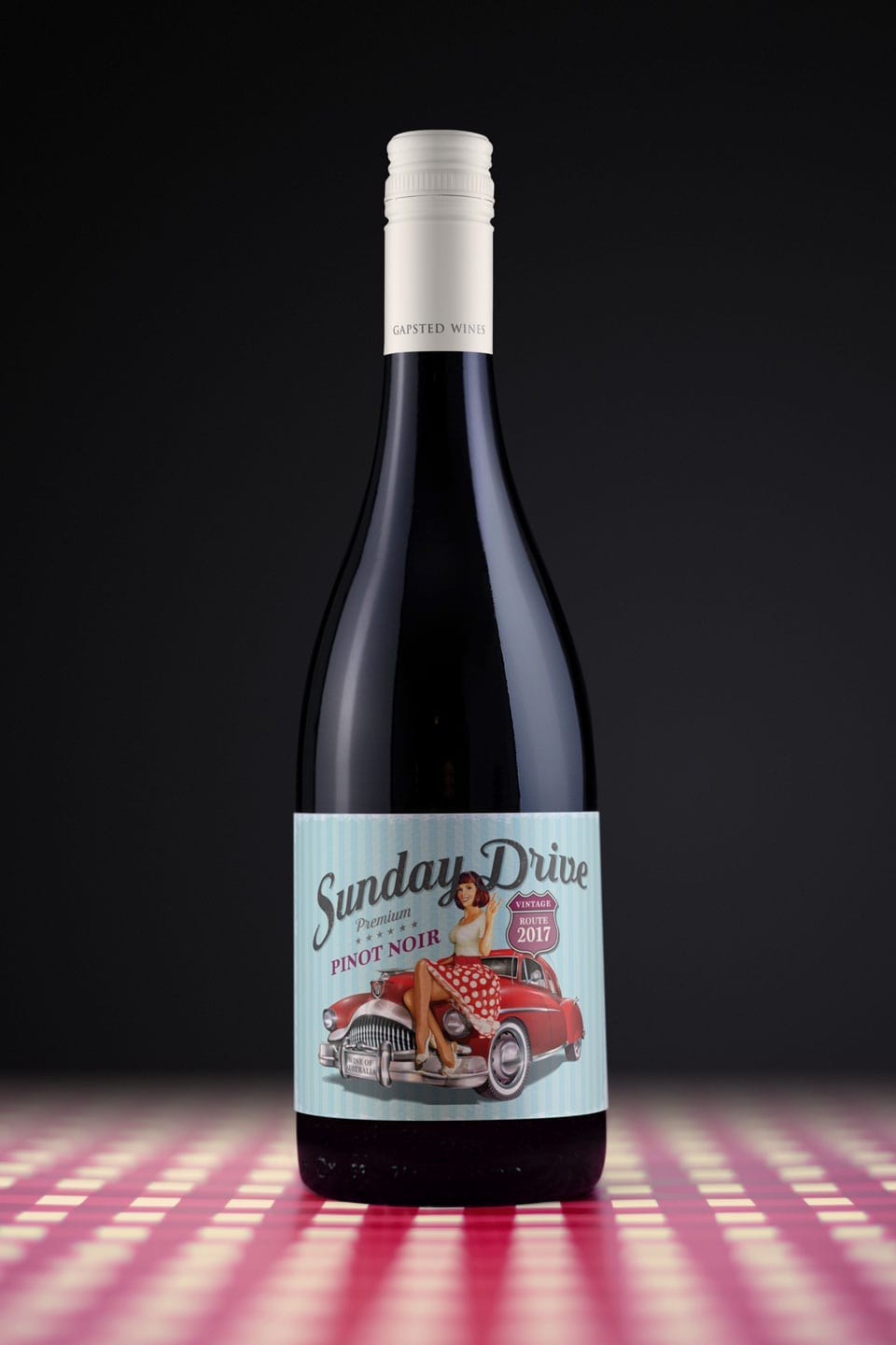 Wine Label Design Sunday Drive