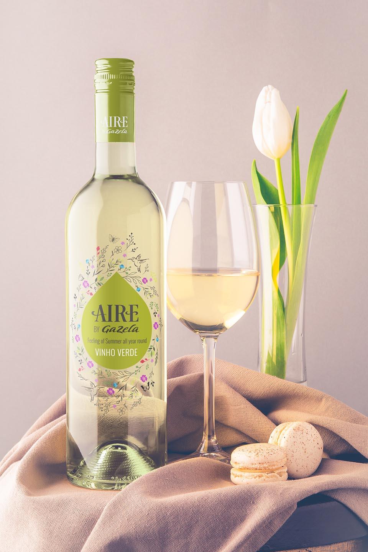 Wine Label Design Aire by Gazela